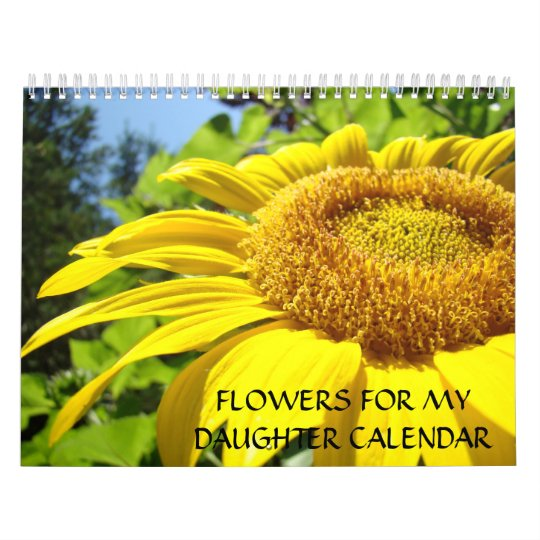 GIFTS Daughters Calendar Flowers for Daughter