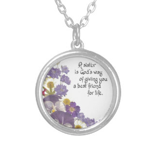 Gifts for a sister round pendant necklace