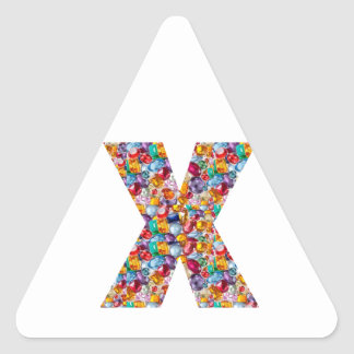 GIFTS For ALPHA XXX : Jewels Pearls Gems Triangle Sticker