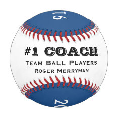 Gifts For Baseball Coaches - #1 Coach In Blue at Zazzle