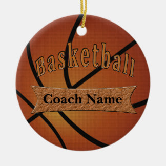 Gifts for Basketball Coach Ideas Double-Sided Ceramic Round Christmas Ornament