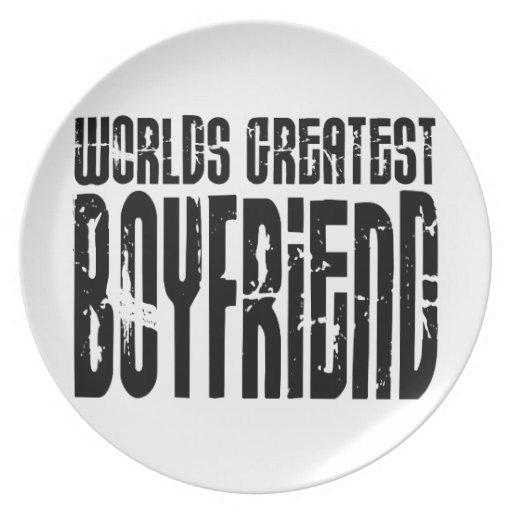 Gifts for Boyfriends : World's Greatest Boyfriend Party Plate