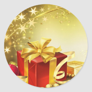 Gifts for Christmas - Pegatina Redonda