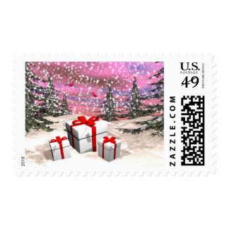 Gifts for Christmas Postage Stamp