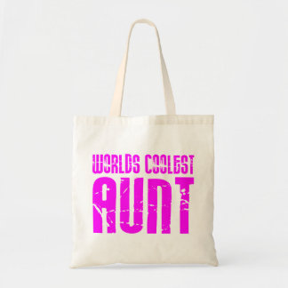 Gifts for Cool Aunts : Pink Worlds Coolest Aunt Tote Bag