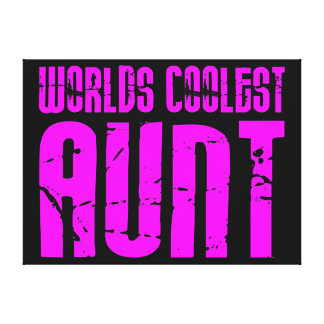 Gifts for Cool Aunts : Pink Worlds Coolest Aunt Gallery Wrapped Canvas