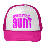 Gifts for Cool Aunts : Pink Worlds Coolest Aunt Trucker Hat