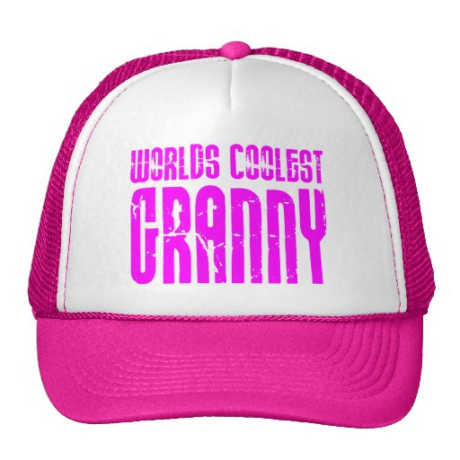 Gifts for Cool Grandmas Pink Worlds Coolest Granny Trucker Hats