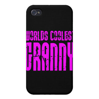 Gifts for Cool Grandmas Pink Worlds Coolest Granny iPhone 4/4S Covers