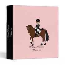Gifts for girls - I love horses - dressage rider Binder