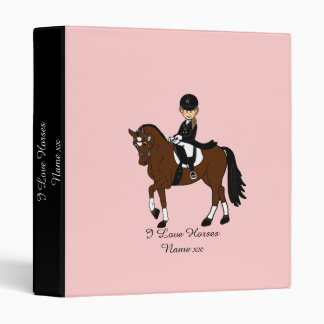 Gifts for girls - I love horses - dressage rider Binder