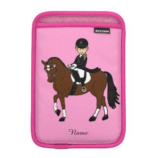 Gifts for girls - I love horses - dressage rider iPad Mini Sleeves