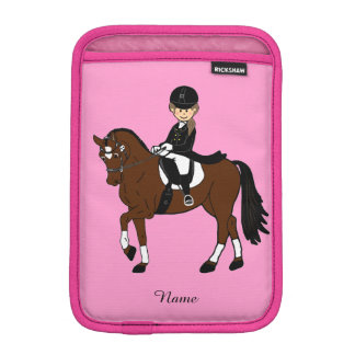 Gifts for girls - I love horses - dressage rider Sleeve For iPad Mini