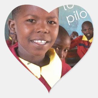 Gifts For Good Maasai Student Heart Sticker