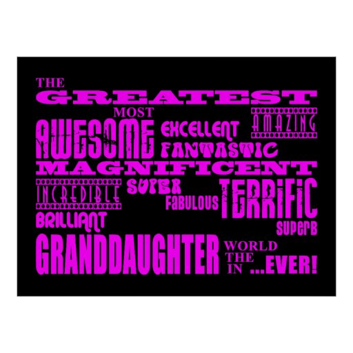 Gifts for Granddaughters : Greatest Granddaughter Poster