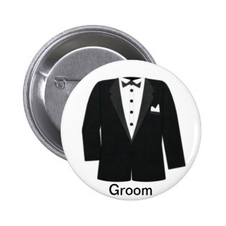 GIFTS FOR GROOM'S OR BLACK TIE EVENTS PINBACK BUTTONS