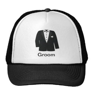 GIFTS FOR GROOM'S OR BLACK TIE EVENTS TRUCKER HAT