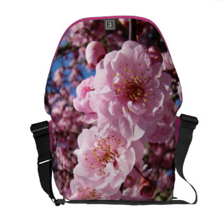 Gifts for Her Messenger Bags Spring Pink Blossoms