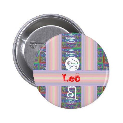 Gifts for LEO - - Birth Star Symbol Pinback Button