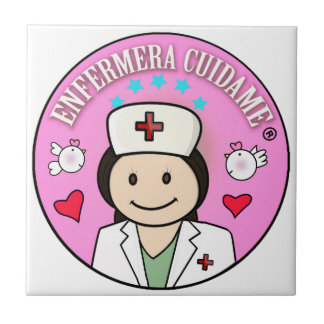Gifts for Nurse Take care of me Brown and Rosa Ceramic Tile