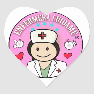 Gifts for Nurse Take care of me Brown and Rosa Heart Sticker