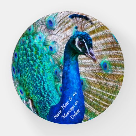 Gifts for Peacock Lovers, Peacock Paperweight