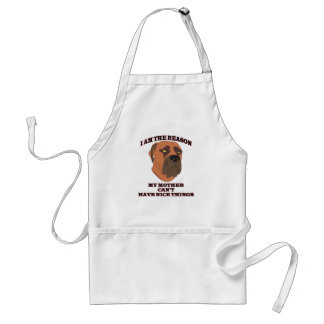 Gifts for people with naughty dogs adult apron