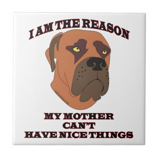 Gifts for people with naughty dogs ceramic tile