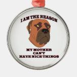Gifts for people with naughty dogs christmas ornaments