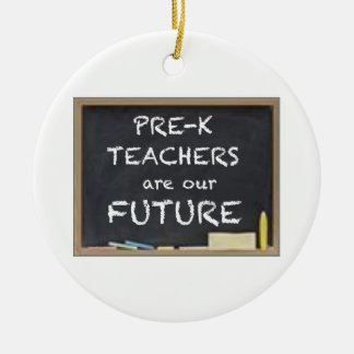GIFTS FOR PRE-K TEACHERS CERAMIC ORNAMENT