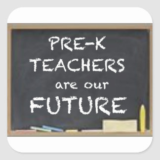 GIFTS FOR PRE-K TEACHERS SQUARE STICKER