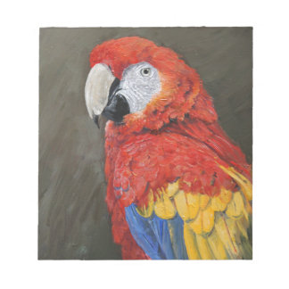 Gifts for the Parrot lover. Scarlet Macaw Notepad