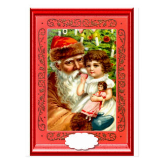 Gifts from Santa for a little girl Postcard