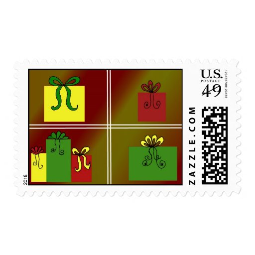 Gifts in the Window Postage Stamp