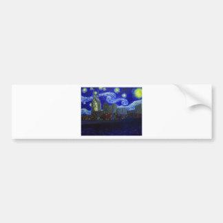"Gifts: ""Nashville Starry Night"" by Jack Lepper Bumper Sticker"