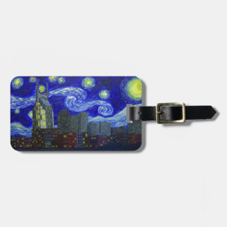 "Gifts: ""Nashville Starry Night"" by Jack Lepper Luggage Tag"
