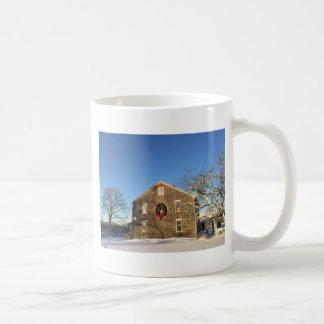 Gifts: New England Farm House at Christmas Coffee Mug