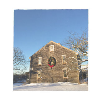 Gifts: New England Farm House at Christmas Notepad