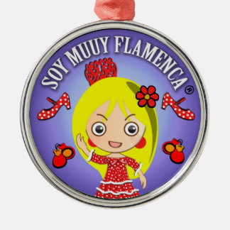 Gifts of I am Blond Flamenco Muuy Metal Ornament