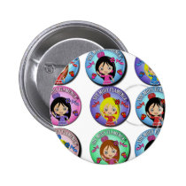 Gifts of I am Very Flamenco Multicoloured… 2 Inch Round Button