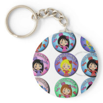 Gifts of I am Very Flamenco Multicoloured… Basic Round Button Keychain