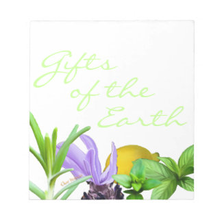 Gifts of the Earth - 5 essential oils Notepad