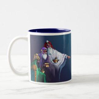 GIFTS of the MAGI by SHARON SHARPE Two-Tone Coffee Mug