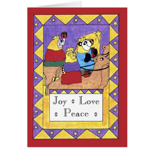 Gifts of the Magi - Joy, Love, Peace Card