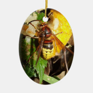 Gifts Oval Adornment Wasps Ceramic Ornament