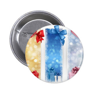 GIFTS RIBBONS WRAPPING BOWS BOHEK CIRCLES SHINY WR 2 INCH ROUND BUTTON