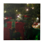 Gifts Under the Tree Christmas Holiday Presents Ceramic Tile