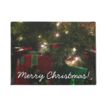 Gifts Under the Tree Christmas Holiday Presents Doormat