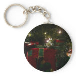 Gifts Under the Tree Christmas Holiday Presents Keychain