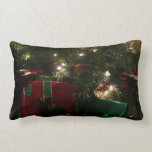 Gifts Under the Tree Christmas Holiday Presents Lumbar Pillow